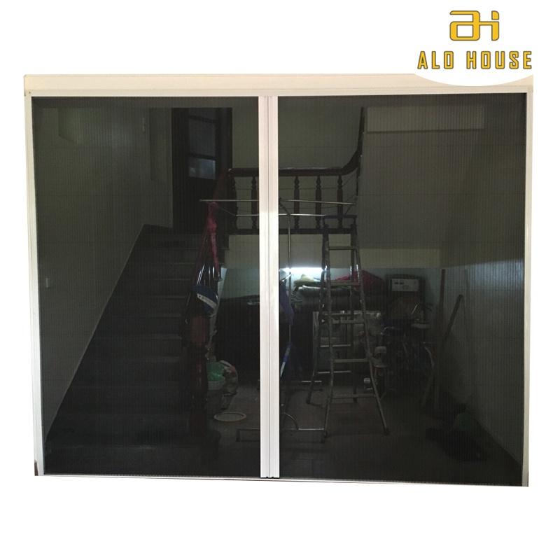 Cửa lưới chống muỗi & côn trùng xếp xích không ray 2 cánh 14 MSP SWC-2